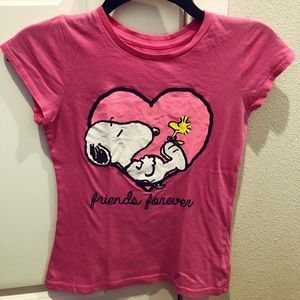 Snoopy Girls Blouse Pink  Size L